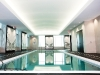 A serene ceiling complements the pool area in the Trump International Hotel and Tower Toronto.
