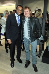 CBC news anchor Dwight Drummond and Roots' public relations director Raymond Perkins, Photos By George Pimentel/WireImage