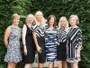 Guest\'s enthusiastically follow the zebra print dress code