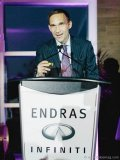 Endras Automotive Group's vice-president Mark Endras addresses the crowd