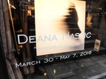 "Deana Nastic's solo exhibition of ""Invisible Brush"" took place at Izzy Gallery on March 30"