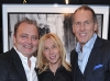 Izzy Sulejmani, owner of Izzy Gallery, with Barbara and Bryan Colangelo