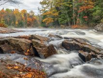 Autumn Rapidly Approaches, Oxtongue River Rapids, between Muskoka and Algonquin Park, Ont.