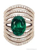 Catch everyone's attention with this daring design boasting an emerald, diamonds and gold | Classic Collections, classiccollectionsofpalmbeach.com