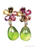 Playful but sophisticated, the juicy gems on these flower-themed earrings keep your look light | Fortrove, www.fortrove.com