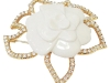 A classic white-and-gold rose pin will complement, not clash with, autumn's colours | Classic Collections, classiccollectionsofpalmbeach.com