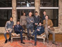 American menswear fashion designer Joseph Abboud's latest collections include a variety of garments made for the modern man