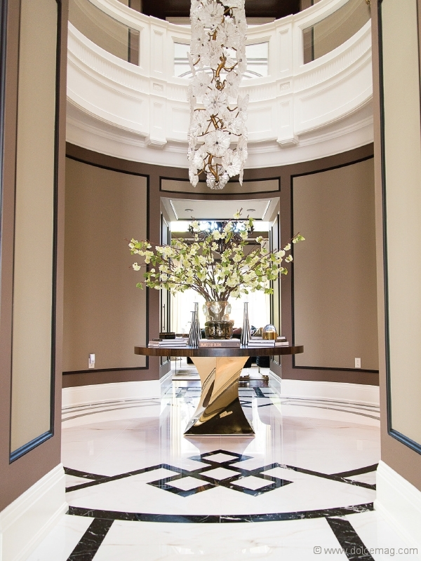 Below, The Luxurious Entrance Space Of Another Successful JTF Homes Build  Features A Timeless Custom