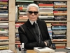 Lagerfeld immigrated to Paris from Germany at the age of 14 and studied drawing and history before becoming a design assistant for Pierre Balmain and, later, Jean Patou   Photo By Martin Meissner