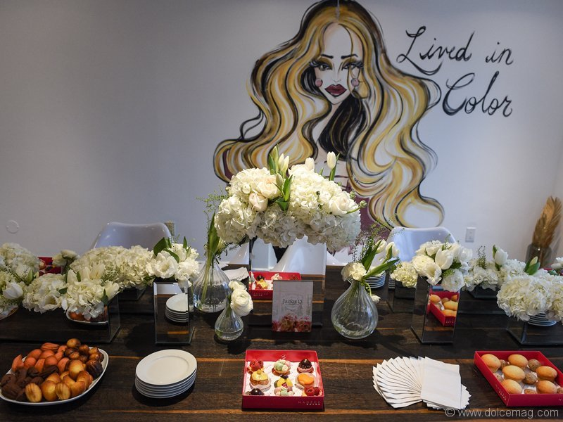 The chicly decorated second floor of LAC + CO was taken over by a table full of sweets