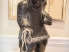 His avid collection of Inuit art includes this undated piece titled Hunter by Canadian Inuk sculptor John Tiktak