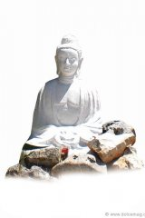 A simple Buddha is a welcoming emblem for meditation.