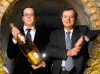 Frederic Rouzaud, CEO of Louis Roederer, stands with father, former CEO and current Chairman of the Board, Jean Claude Rouzaud