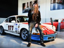 Walker with his 911T at the grand opening of the Porsche Centre Oakville