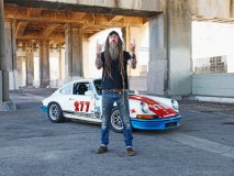 Porsche collector and automotive restorer Magnus Walker rocks on with his personal favourite, Car 277, a 1971 911T