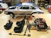 Walker houses and restores his prized Porsches from the renovated L.A. warehouse where he lives and runs his clothing company, Serious Clothing, and his film location business