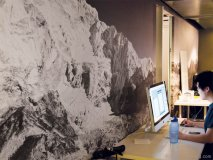 Mantella Venture Partners, A large mural of Mount Everest, meant to both inspire and motivate