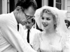 Marilyn Monroe and Arthur Miller at their wedding from the May 1961 issue of TV-Radio Mirror | Photo by Macfadden Publications