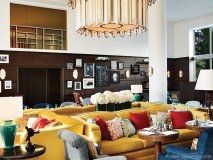 Commissioned by businessman  Nick Jones, Martin Brudnizki  transformed Soho Beach House Miami's 80,000-square-foot space into a congenial hotel-club with  Cuban and Latin American elements