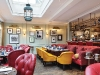 Every corner of Lime Wood Hotel's Hartnett  Holder & Co restaurant is comfortably utilized. Warm patterns and fabrics yield an inviting atmosphere
