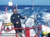 Sailing since he was a kid, skipper Giovanni Soldini takes the helm while watch leader Brad Van Liew acts as lookout.