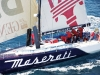 The Maserati races from Cadiz, Spain to San Salvador in the Bahamas.