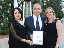 Tina Tehranchian, Vaughan Mayor Maurizio Bevilacqua and Nathalie Mercure