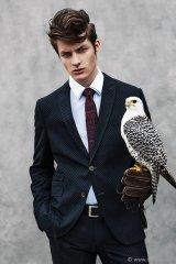 textured cinque suit contrasting eton tie and sharp hugo-boss-belt
