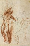 Michelangelo, Study for Christ in Limbo, c. 1532–1533, red and black chalk,  Casa Buonarroti