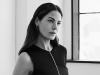 Dress - Esteban Cortazar Black one sleeve dress | Earring - Rachel Katz silver bar | Shoes - Stuart Weitzman white mule / Photography by PULMANNS