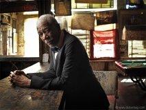 Morgan Freeman takes a break at Ground Zero, his blues bar in Mississippi