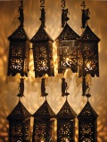 Lanterns dress the walls of the beautiful and majestic Riad Kaïss hotel. (Photo by Elan Fleischer)