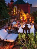 A perfectly set table awaits you on a rooftop terrace at the grand luxury boutique hotel. (Photo by Quentin Bacon)