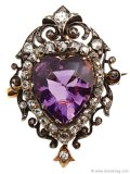 ▲ Knots of Victorian detail and a rich blend of silver, gold and amethyst make this pin an unforgettable conversation piece.   www.jeromeheidenreich.com