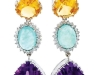 ▶ White gold, topaz, aquamarine, amethyst and diamond mingle to create deliciously coloured eye candy.  www.ottavianostore.com