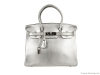 2. Hermès Birkin 30 Bag – Designed in standout silver, this bag comes with lock and key in the clochette and is stamped with the signature Hermès logo