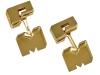gold art deco cuffs