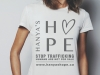 11. Hanya's Hope t-shirt: Proceeds from online and retail T-shirt purchases will be put towards the non-profit's goal of ending child trafficking, worldwide | www.hanyashope.ca