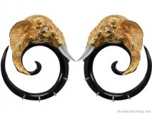 Bewitch your ensemble — and your admirers — with these daring gold-plated and sterling silver elephant earrings. www.vivre.com