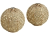Shake things up with these bejewelled Gold Sphere salt and pepper shakers — their brass 14-karat gold plating and Swarovski crystals will make your tabletop sparkle. www.vivre.com
