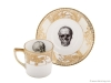 11. UPCYCLED VINTAGE GOLD SKULL TEACUP