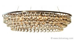 Like a halo of modern home décor, the Arctic Pear chandelier by British furniture, lighting and accessory design house Ochre is a dazzling crown for kitchens and living rooms. www.ochre.net