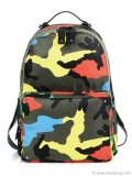 Don't just blend into the urban jungle. Storm the beaches of your 9-to-5 with confident style in this Italian-made, leather-trimmed, bright camouflage nylon backpack by Valentino. www.saksfifthavenue.com
