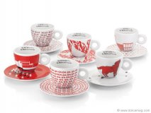 The espresso cup set from the illy Art Collection features beautifully painted pieces by six renowned artists, merging the everyday joy of sipping espresso with inspirational art. www.illy.com