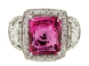 The ultimate centrepiece for those elegant evening soirées, this natural Burma pink sapphire ring will sparkle under the candlelight, moonlight or whatever light you have available, thanks to 106 round, brilliant-cut diamonds. www.1stdibs.com