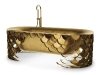 10. SCALE UP: The Koi Bathtub from Maison Valentina shimmers like a fish's scales in golden sunlight — a symbol of your enduring love for your bathroom. www.maisonvalentina.net