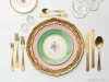 12. HOSTESS WITH THE MOSTESS: Insta-worthy Florentine chargers in gold, pink and green botanicals by Casa De Perrin | www.casadeperrin.com