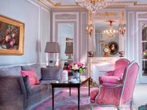 J'ADORE PARIS: The City of Love blushes with the chicly furnished  Prestige Suite at the Hôtel Plaza Athénée Paris.
