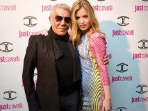 MOVES LIKE JAGGER: Model Georgia May Jagger poses with Roberto Cavalli, mastermind behind the wild and intricate Just  Cavalli line.