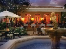 A sunset snap of the interior courtyard at the Brazilian Court Hotel